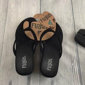 5cf4554191c Flojos Shoes - Flojos Flip Flops Olivia with heel Black Size 7